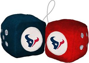 BSI NFL Houston Texans Fuzzy Dice