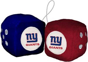 BSI NFL New York Giants Fuzzy Dice