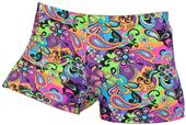Gem Gear Compression Flower Power Shorts