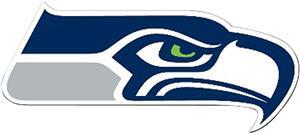 """BSI NFL Seattle Seahawks 12"""" Die Cut Car Magnet"""