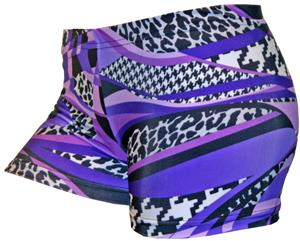 Gem Gear Compression Purple Mamba Shorts