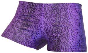 Gem Gear Compression Purple Snakeskin Shorts