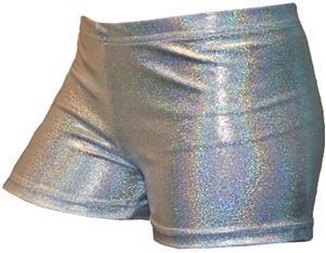Gem Gear Compression Silver Hologram Shorts