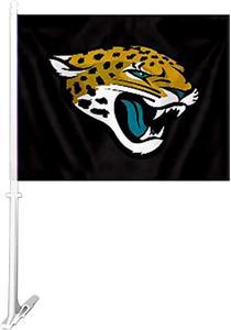 """NFL Jacksonville Jaguars 2-Sided 11""""x14"""" Car Flag"""