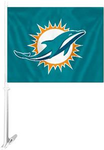 "BSI NFL Miami Dolphins 2-Sided 11"" x 14"" Car Flag"