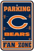 BSI NFL Chicago Bears Fan Zone Parking Sign