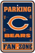 BSI NFL Chicago Bears Fan Zone Parking Sign