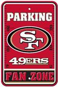 BSI NFL San Francisco 49ers Fan Zone Parking Sign