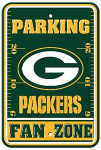 BSI NFL Green Bay Packers Fan Zone Parking Sign