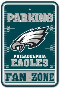 BSI NFL Eagles Fan Zone Plastic Parking Sign