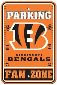 Bsi Nfl Cincinnati Bengals Fan Zone Parking Sign Fan Gear
