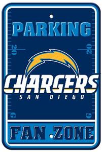 BSI NFL San Diego Chargers Fan Zone Parking Sign