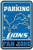 BSI NFL Detroit Lions Fan Zone Parking Sign