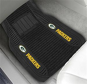 Fan Mats Green Bay Packers Deluxe Car Mats
