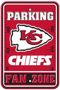 BSI NFL Kansas City Chiefs Fan Zone Parking Sign