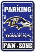 BSI NFL Baltimore Ravens Fan Zone Parking Sign