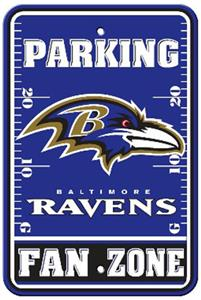 BSI NFL Baltimore Ravens Fan Zone Parking Sign
