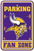 BSI NFL Minnesota Vikings Fan Zone Parking Sign