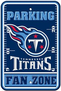 BSI NFL Tennessee Titans Fan Zone Parking Sign