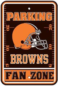 BSI NFL Cleveland Browns Fan Zone Parking Sign