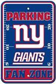 BSI NFL New York Giants Fan Zone Parking Sign
