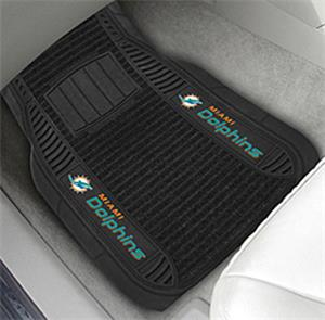 Fan Mats Miami Dolphins Deluxe Car Mats