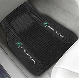 Fan Mats Michigan State University Deluxe Car Mats