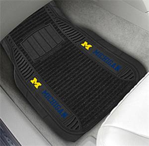 Fan Mats Univ. of Michigan Deluxe Car Mats (set)