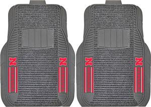 Fan Mats Univ. of Nebraska Deluxe Car Mats (set)