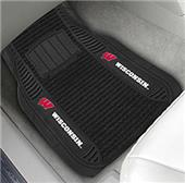 Fan Mats Univ. of Wisconsin Deluxe Car Mats (set)