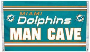 BSI NFL Miami Dolphins Man Cave 3' x 5' Flag