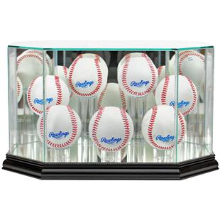 "Perfect Cases ""7 Baseball"" Octagon Display Cases"
