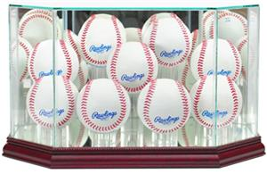 "Perfect Cases ""9 Baseball"" Octagon Display Cases"