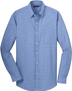 Red House Mens Windowpane Plaid Non-Iron Shirt