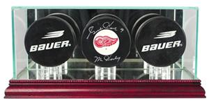 Perfect Cases Triple Hockey Puck Display Cases