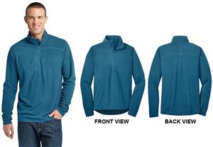 Eddie Bauer Mens 1/4-Zip Grid Fleece Pullover