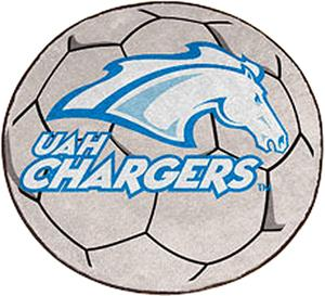 Fan Mats U. of Alabama-Huntsville Soccer Ball Mat