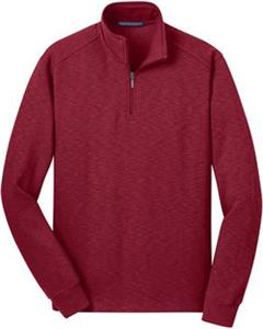Port Authority Mens Slub Fleece 1/4-Zip Pullover