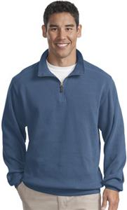Port Authority Mens Flatback Rib 1/4-Zip Pullover