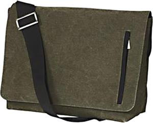 District Washed Cotton Canvas Messenger Bag