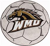 Fan Mats Western Michigan Univ. Soccer Ball Mat