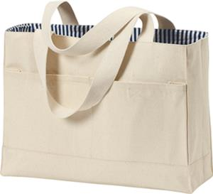 Port & Company Double Pocket Tote Bag