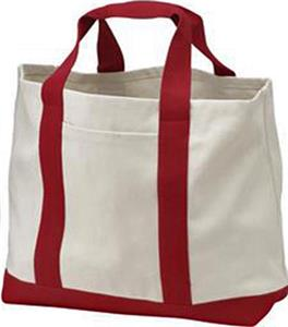 Port & Company 2-Tone Shopping Tote Bag