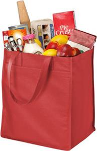 Port & Company Wide Polypropylene Grocery Tote