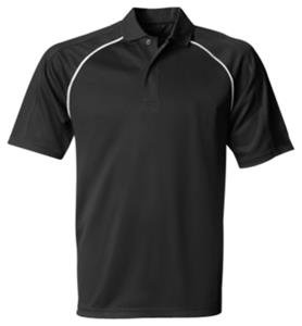 A4 Piped Moisture Management Polo Shirts