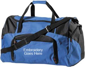"A4 27"" Two Color Athletic Duffle Sports Bags"
