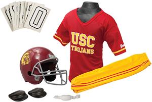 Collegiate Youth Football Team Uniform Set USC