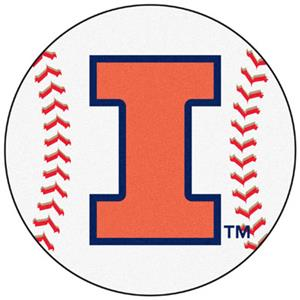 Fan Mats University of Illinois Baseball Mat