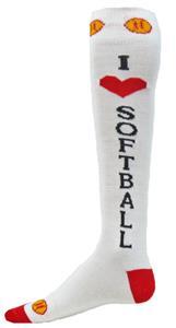 Red Lion I Love Softball Socks