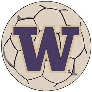 Fan Mats NCAA Univ. of Washington Soccer Ball Mat